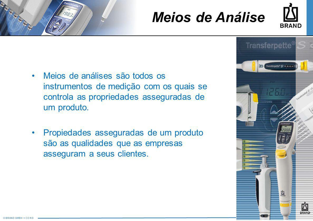 Meios de Análise Meios de análises são todos os instrumentos de medição com os quais se controla as propriedades asseguradas de um produto.