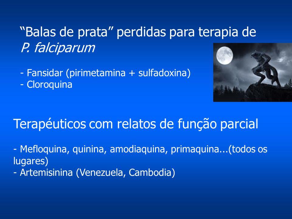 Balas de prata perdidas para terapia de P. falciparum