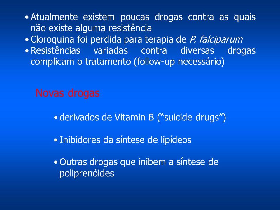 Atualmente existem poucas drogas contra as quais não existe alguma resistência