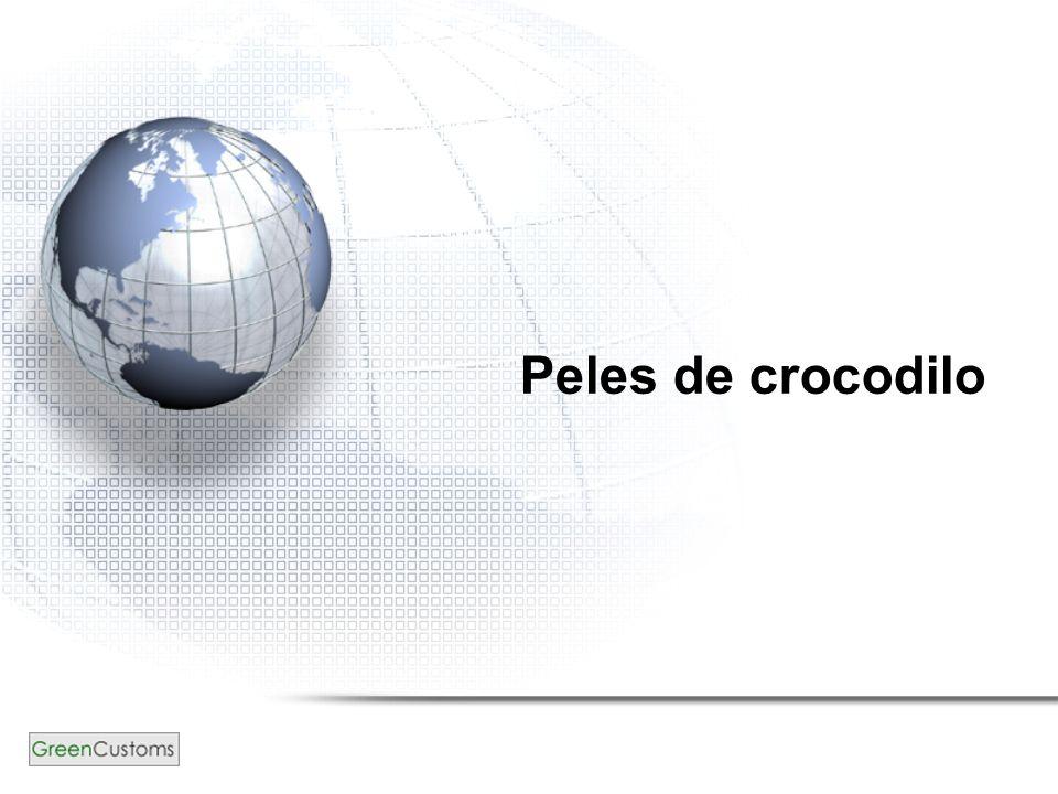 Peles de crocodilo