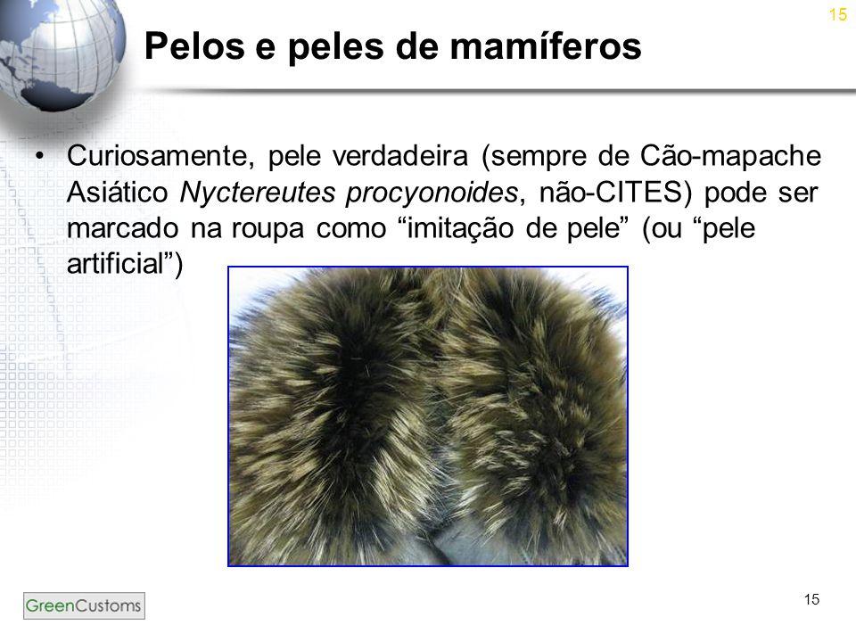 Pelos e peles de mamíferos
