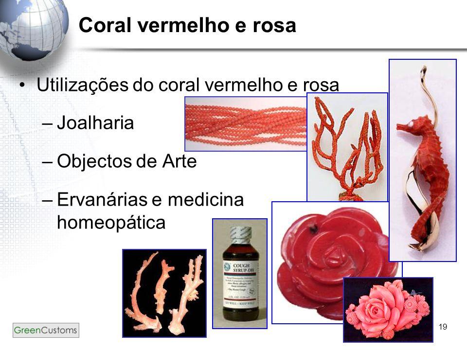Coral vermelho e rosa Utilizações do coral vermelho e rosa Joalharia