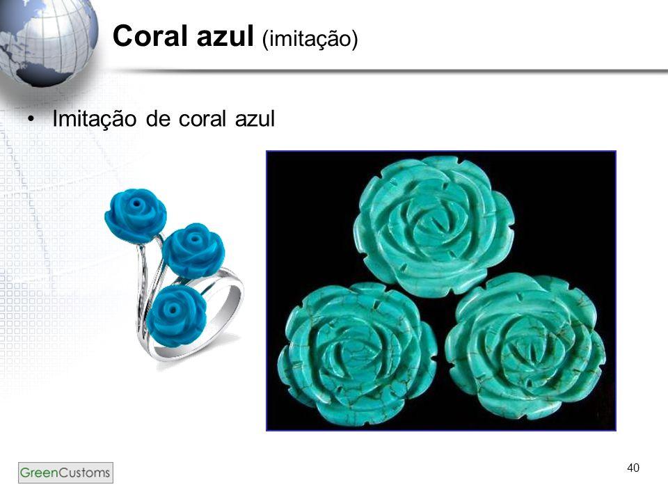 Coral azul (imitação) Imitação de coral azul 40