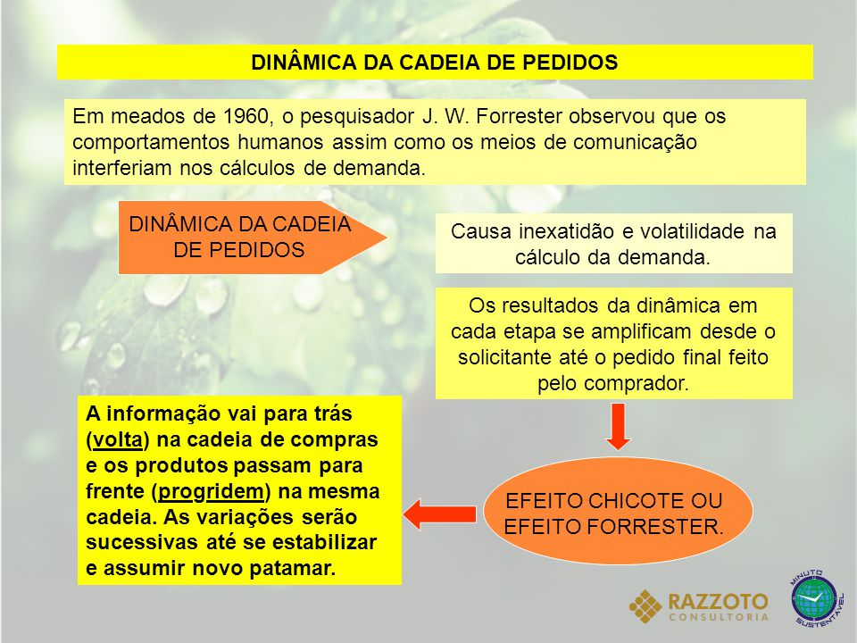 DINÂMICA DA CADEIA DE PEDIDOS
