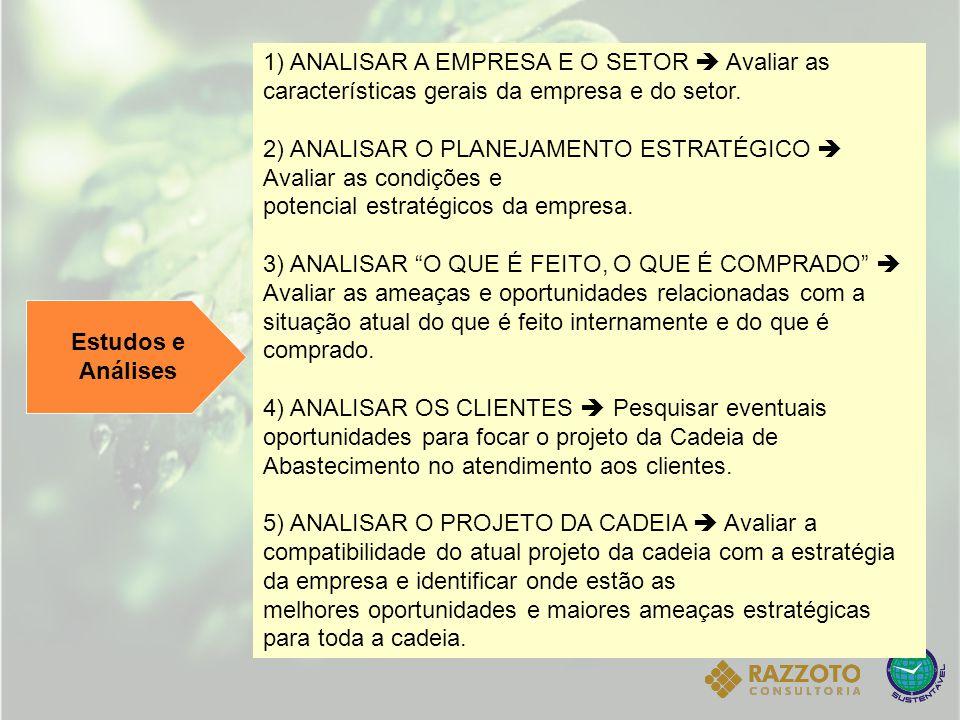 1) ANALISAR A EMPRESA E O SETOR  Avaliar as características gerais da empresa e do setor.