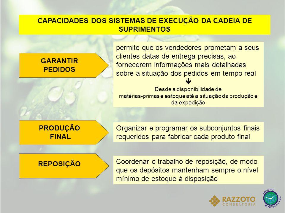 CAPACIDADES DOS SISTEMAS DE EXECUÇÃO DA CADEIA DE SUPRIMENTOS