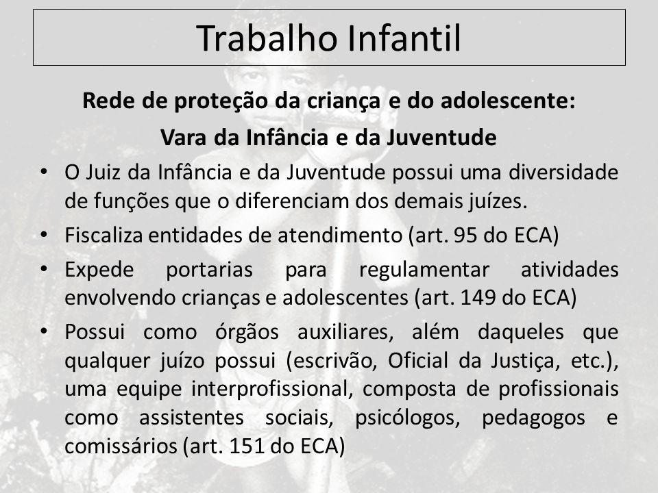 Trabalho Infantil Rede de proteção da criança e do adolescente: