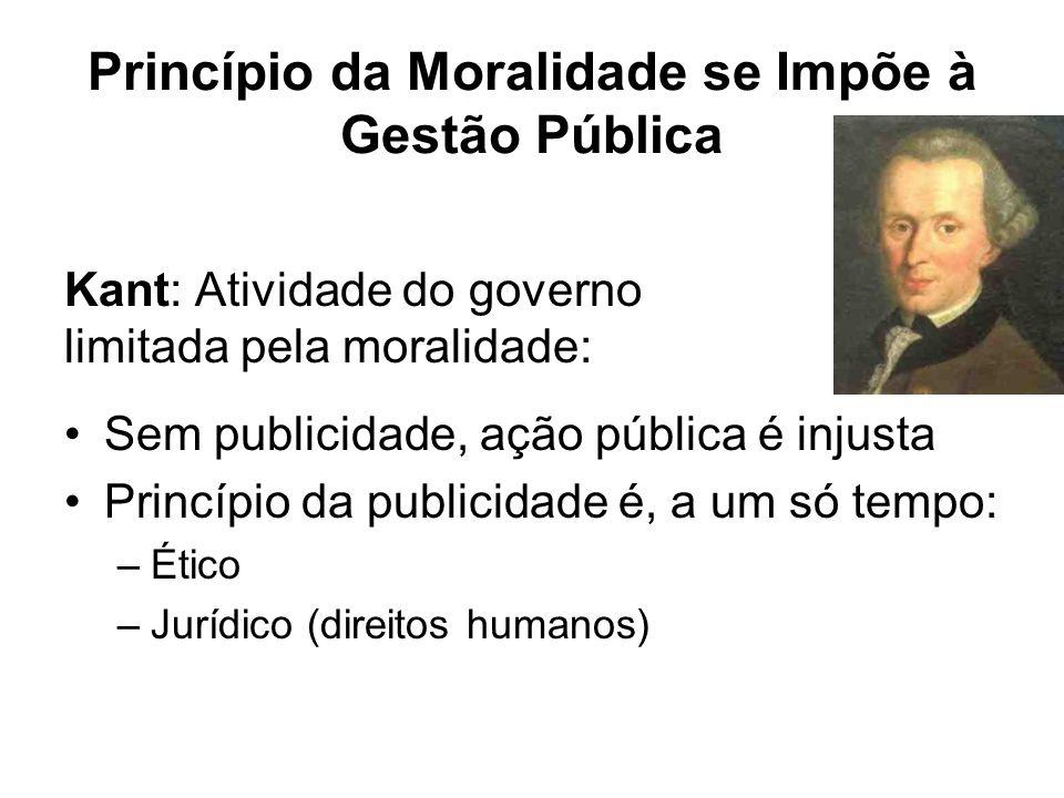 Princípio da Moralidade se Impõe à Gestão Pública