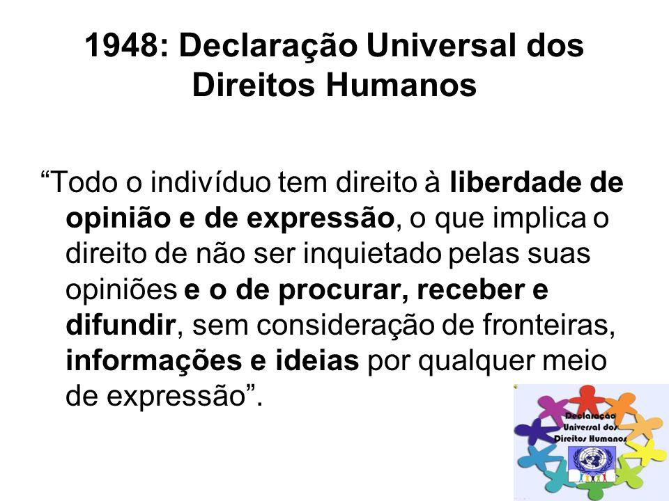1948: Declaração Universal dos Direitos Humanos