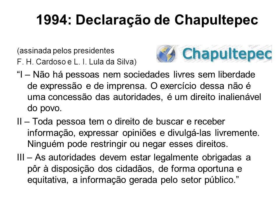 1994: Declaração de Chapultepec