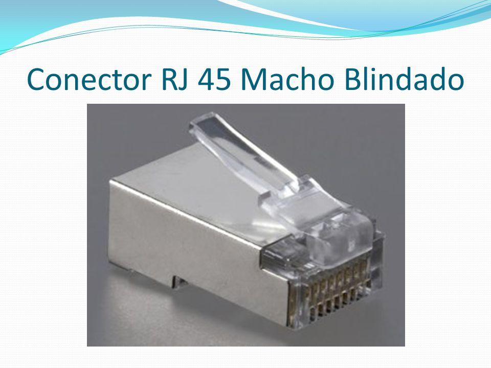 Conector RJ 45 Macho Blindado
