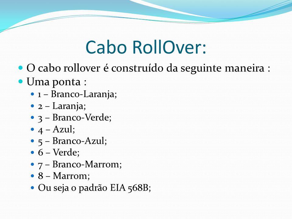 Cabo RollOver: O cabo rollover é construído da seguinte maneira :