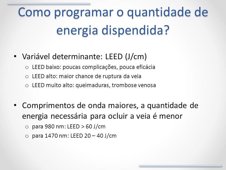 Como programar o quantidade de energia dispendida