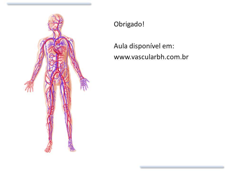 Obrigado! Aula disponível em: www.vascularbh.com.br
