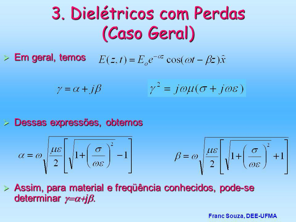 3. Dielétricos com Perdas (Caso Geral)