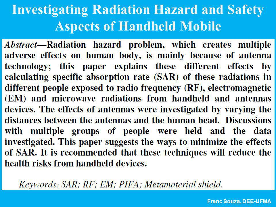 Investigating Radiation Hazard and Safety Aspects of Handheld Mobile