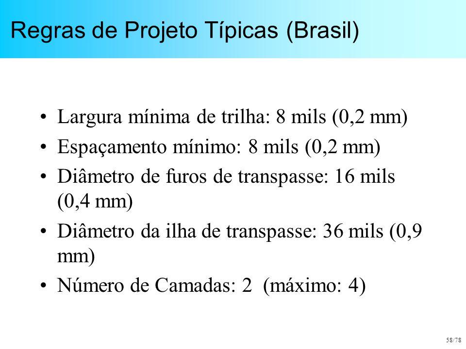 Regras de Projeto Típicas (Brasil)