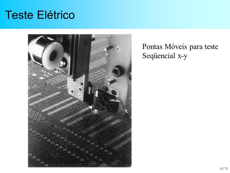 Teste Elétrico Pontas Móveis para teste Seqüencial x-y