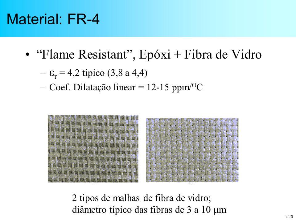 Material: FR-4 Flame Resistant , Epóxi + Fibra de Vidro