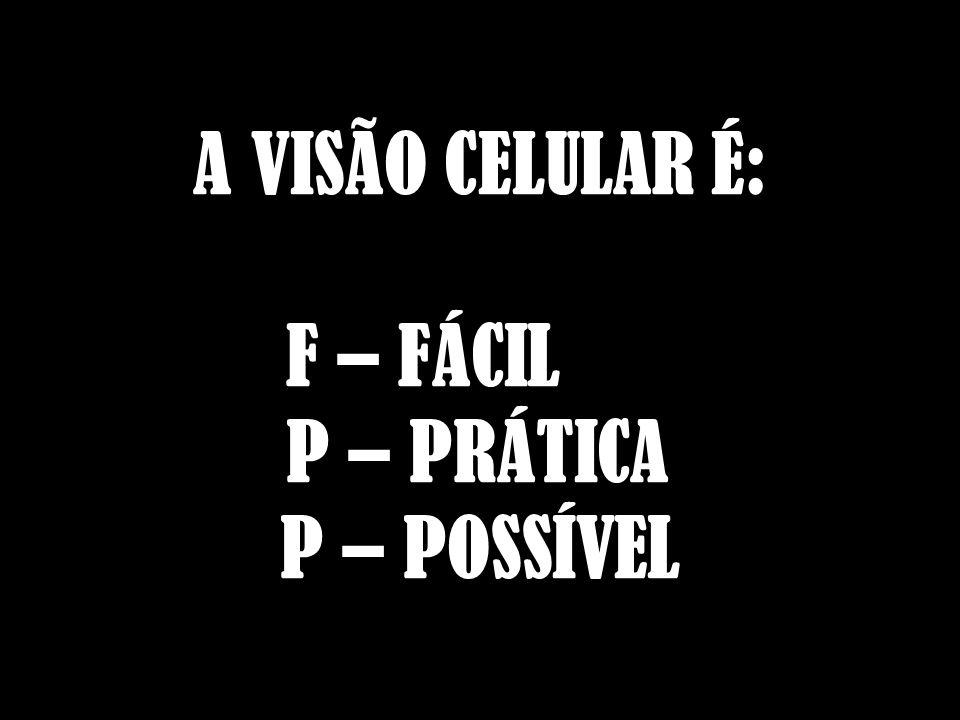A VISÃO CELULAR É: F – FÁCIL P – PRÁTICA P – POSSÍVEL