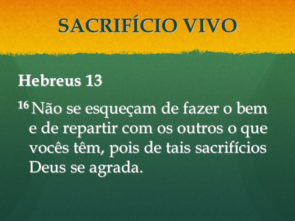 SACRIFÍCIO VIVO Hebreus 13