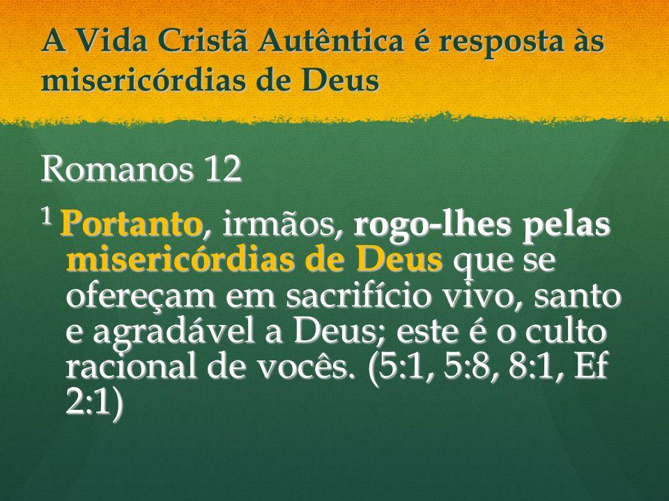 A Vida Cristã Autêntica é resposta às misericórdias de Deus
