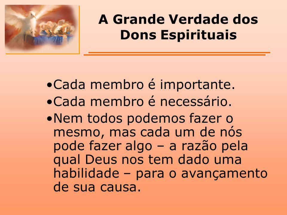 A Grande Verdade dos Dons Espirituais