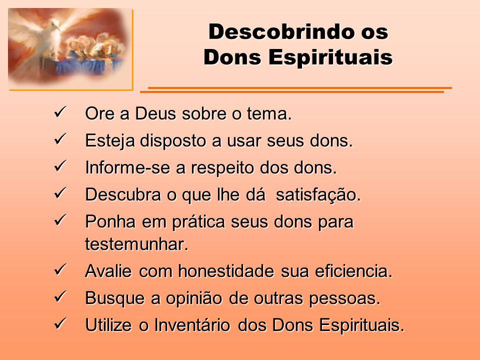 Descobrindo os Dons Espirituais