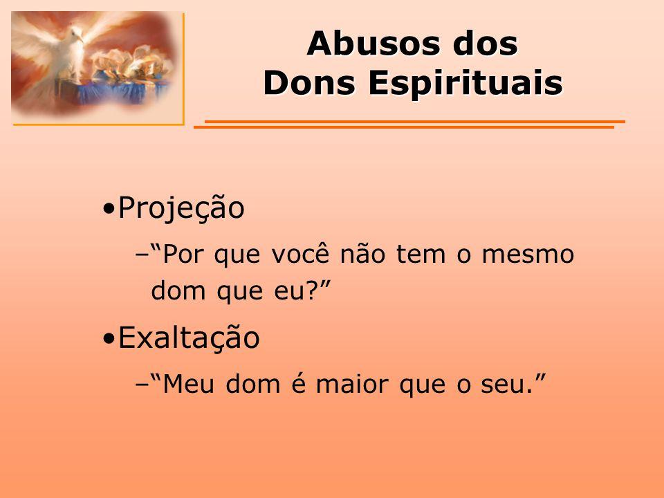 Abusos dos Dons Espirituais