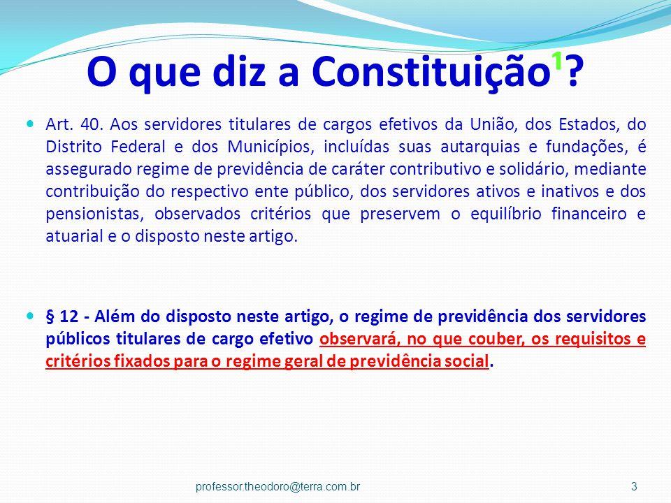O que diz a Constituição¹