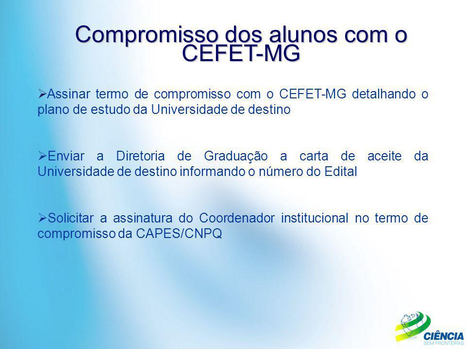 Compromisso dos alunos com o CEFET-MG