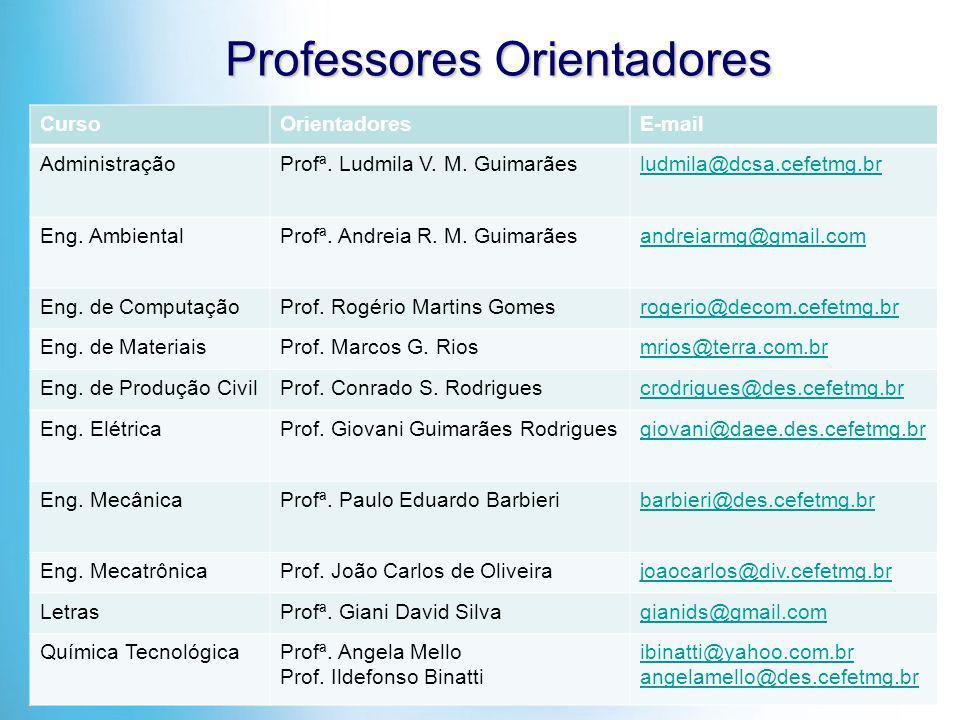 Professores Orientadores