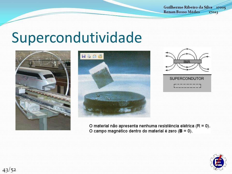 Supercondutividade 43/52 Guilherme Ribeiro da Silva 17005