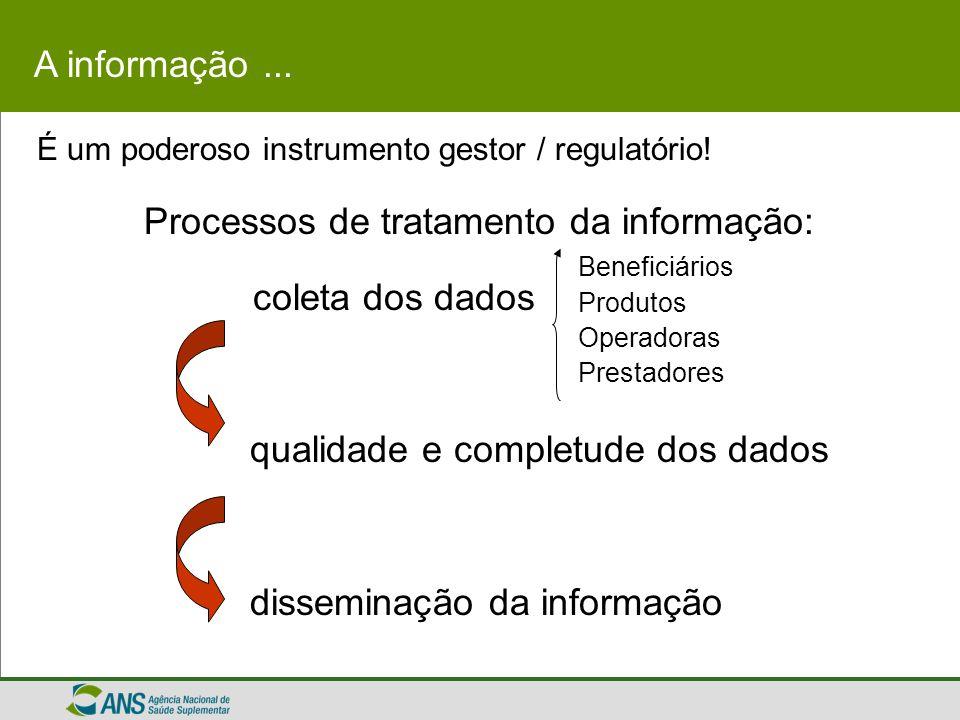Processos de tratamento da informação: