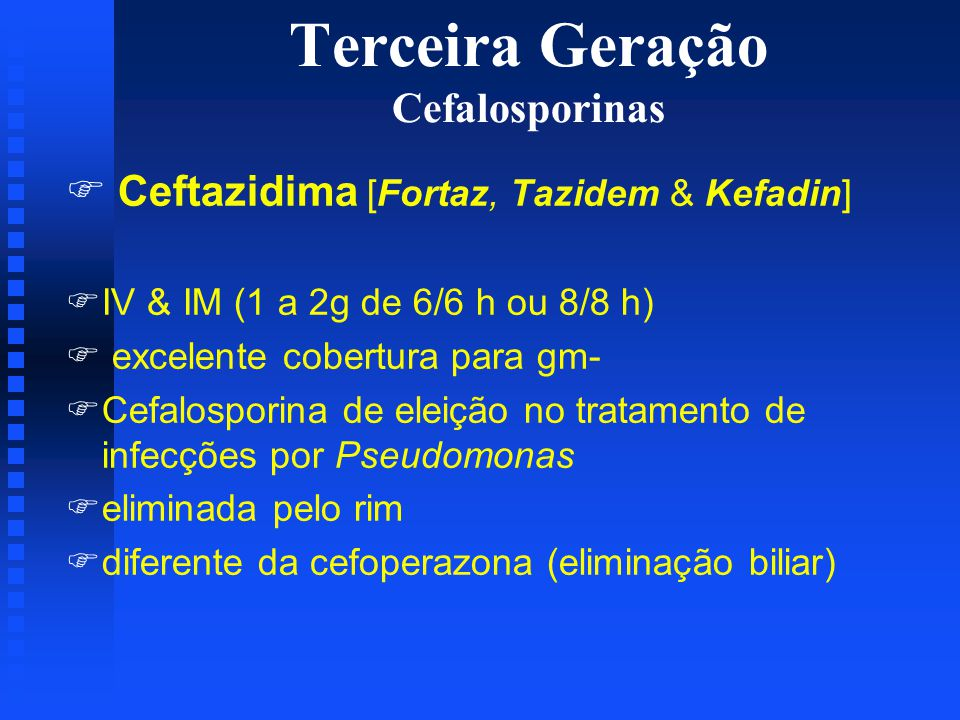 Terceira Geração Cefalosporinas