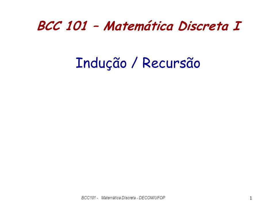 BCC 101 – Matemática Discreta I