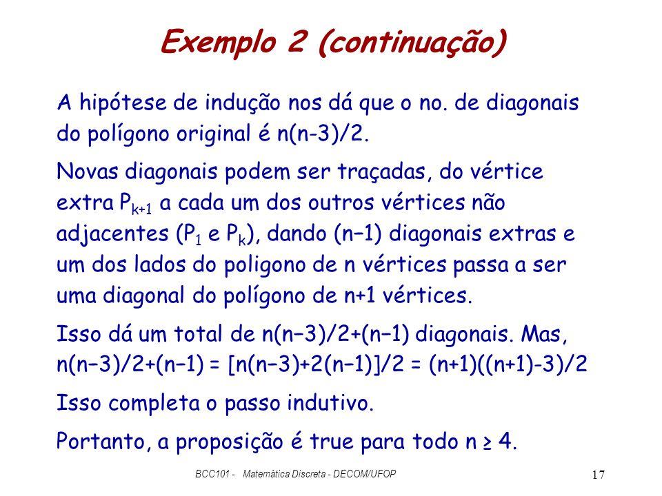 Exemplo 2 (continuação)
