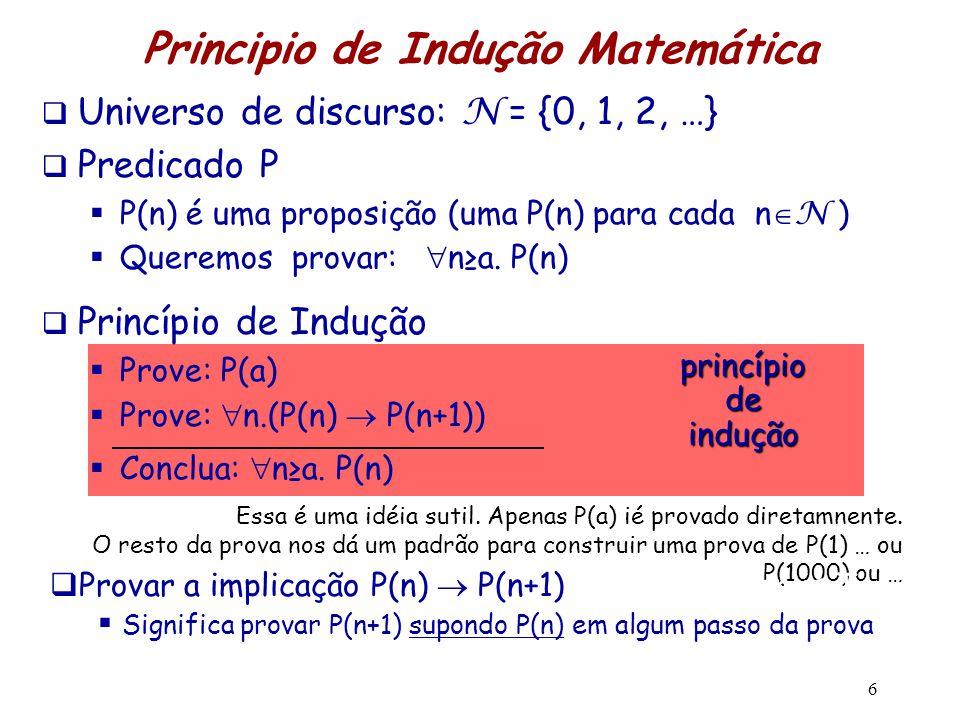 Principio de Indução Matemática