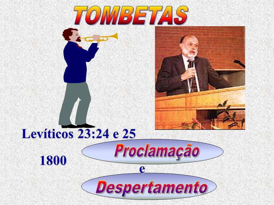 TOMBETAS Levíticos 23:24 e 25 Proclamação 1800 e Despertamento