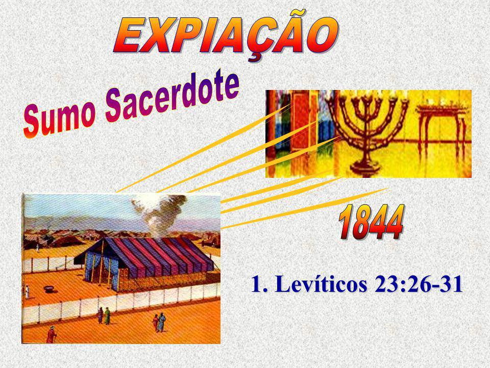 EXPIAÇÃO Sumo Sacerdote 1844 1. Levíticos 23:26-31