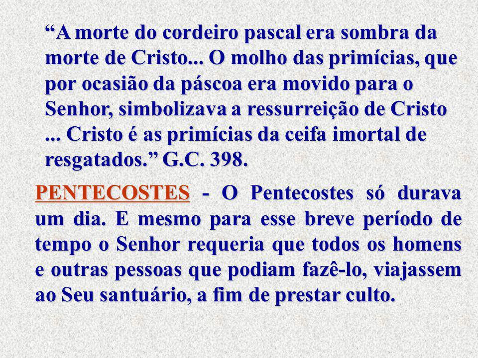 A morte do cordeiro pascal era sombra da morte de Cristo