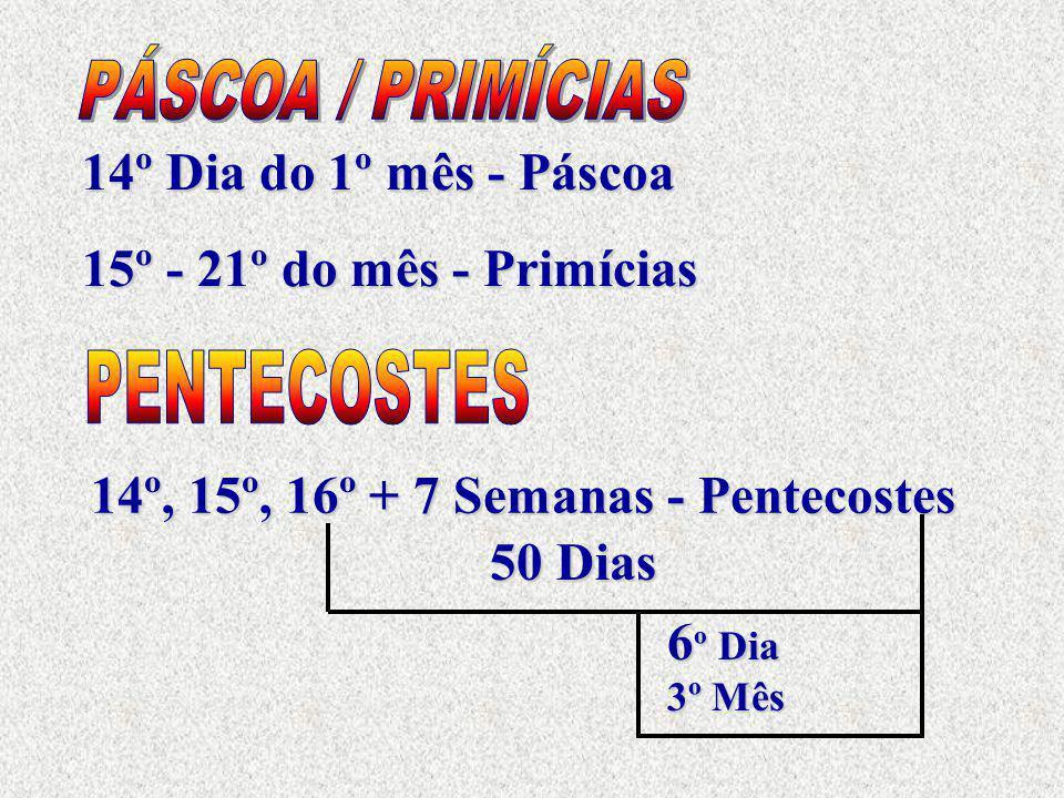 PÁSCOA / PRIMÍCIAS PENTECOSTES