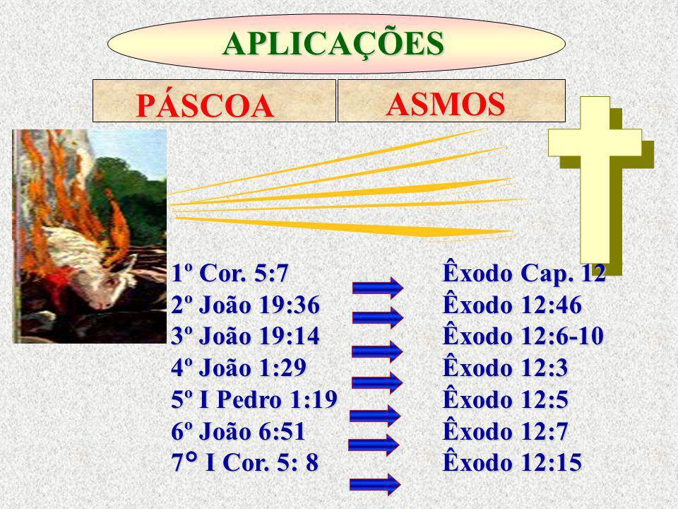 APLICAÇÕES PÁSCOA ASMOS 1º Cor. 5:7 Êxodo Cap. 12