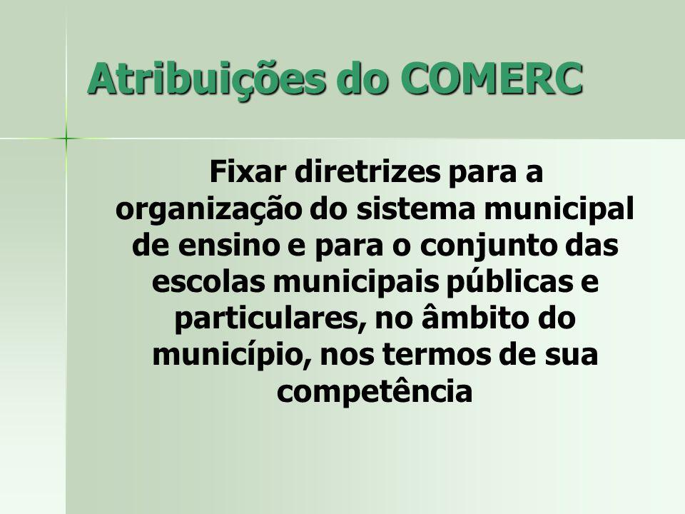 Atribuições do COMERC