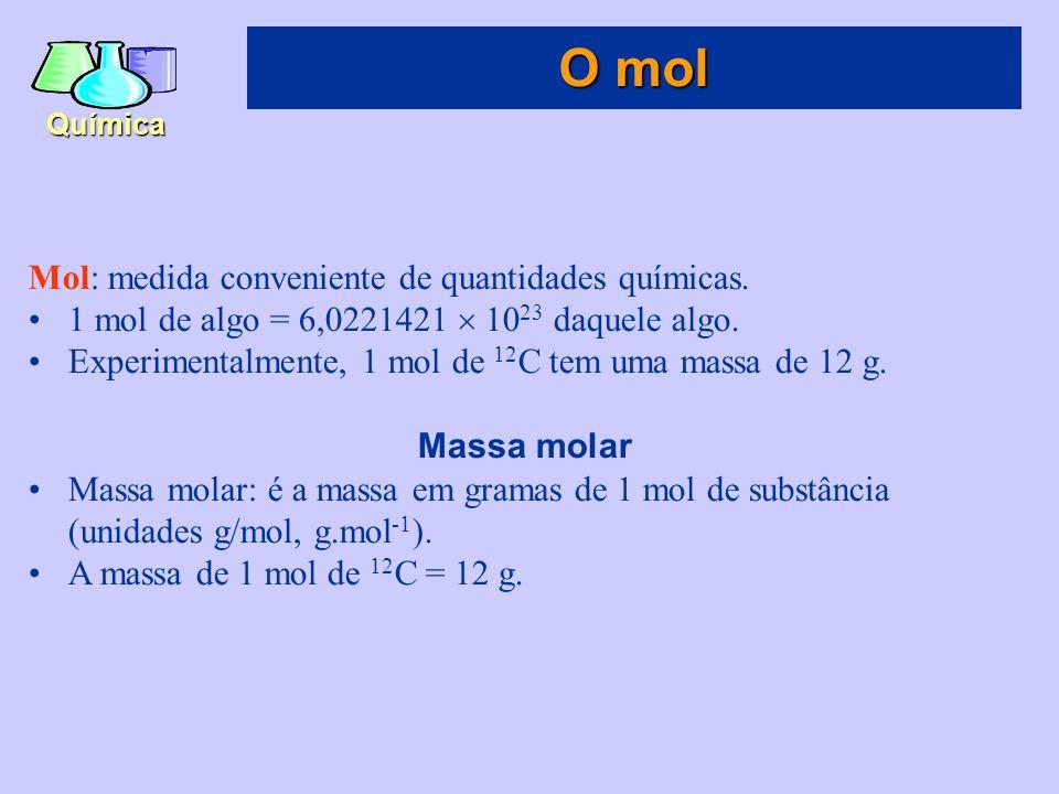 O mol Mol: medida conveniente de quantidades químicas.