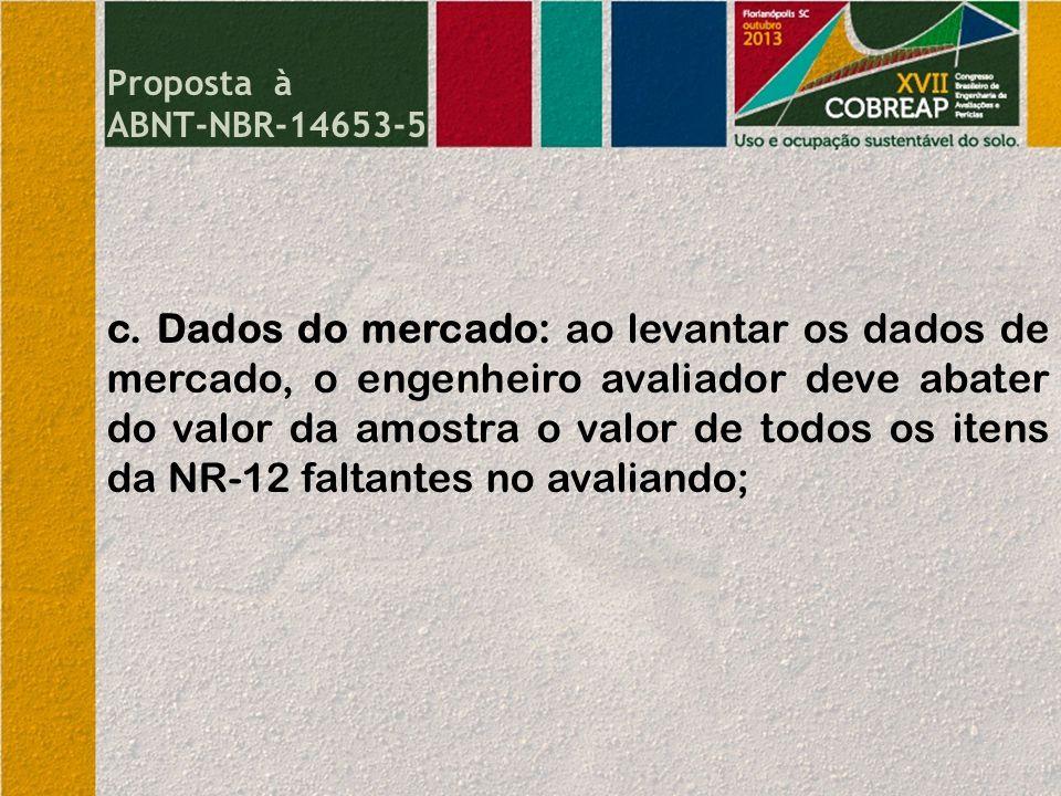 Proposta à ABNT-NBR-14653-5.