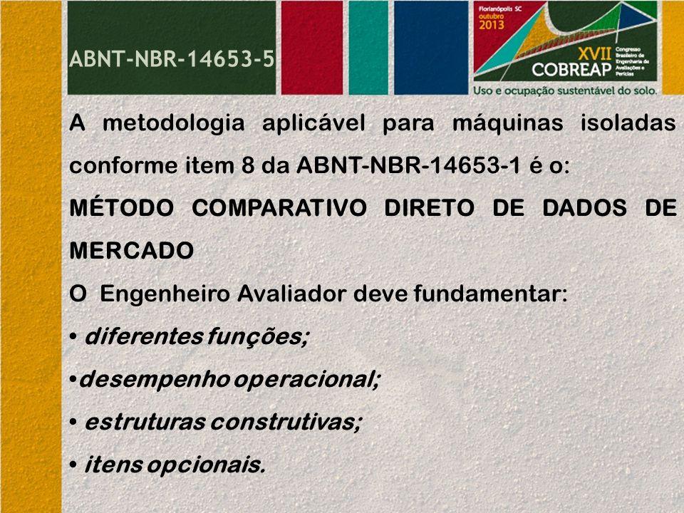 MÉTODO COMPARATIVO DIRETO DE DADOS DE MERCADO