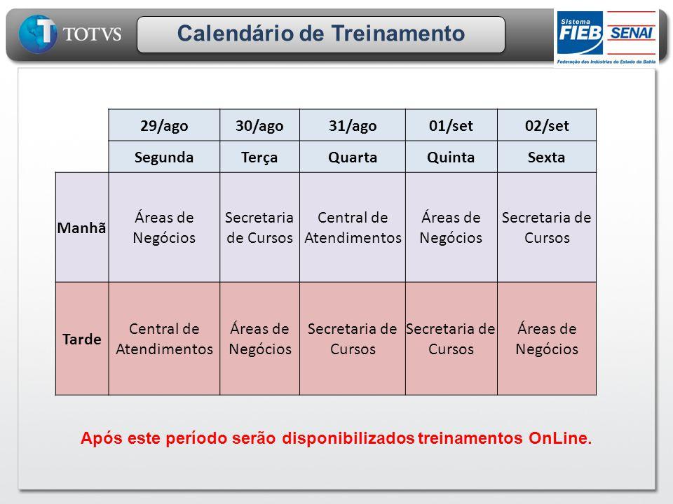 Calendário de Treinamento