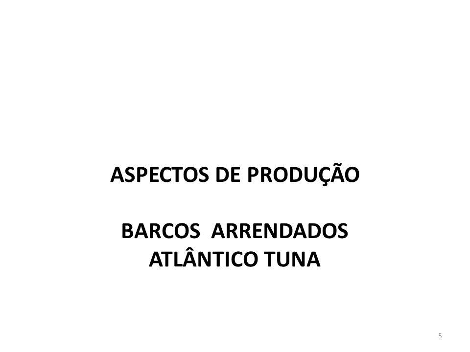 ASPECTOS DE PRODUÇÃO BARCOS ARRENDADOS ATLÂNTICO TUNA