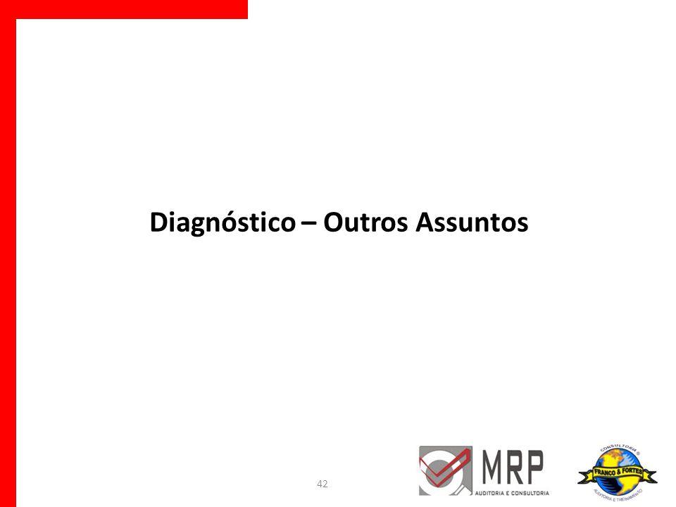 Diagnóstico – Outros Assuntos